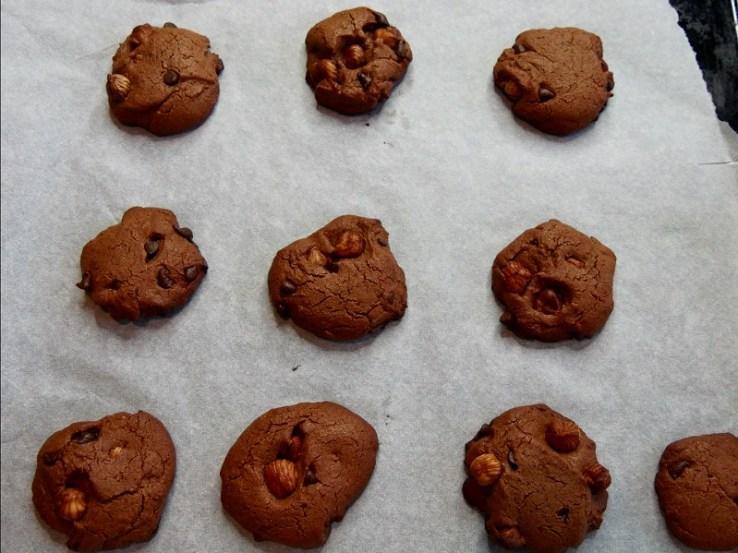 Cookies à la farine de pois-chiches - A la sortie du four