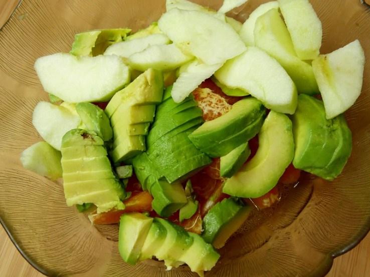 Salade clémentine et avocat Avant la grenade - Coup de cœur de Mars : Salade d'avocats, clémentines & pomme acidulée