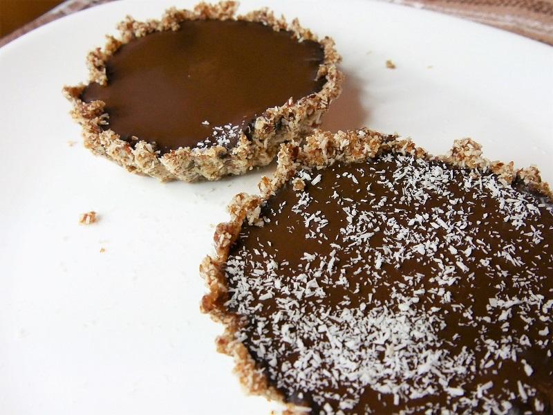 Tartelette chocolat et coco - Tartelette au chocolat & coco