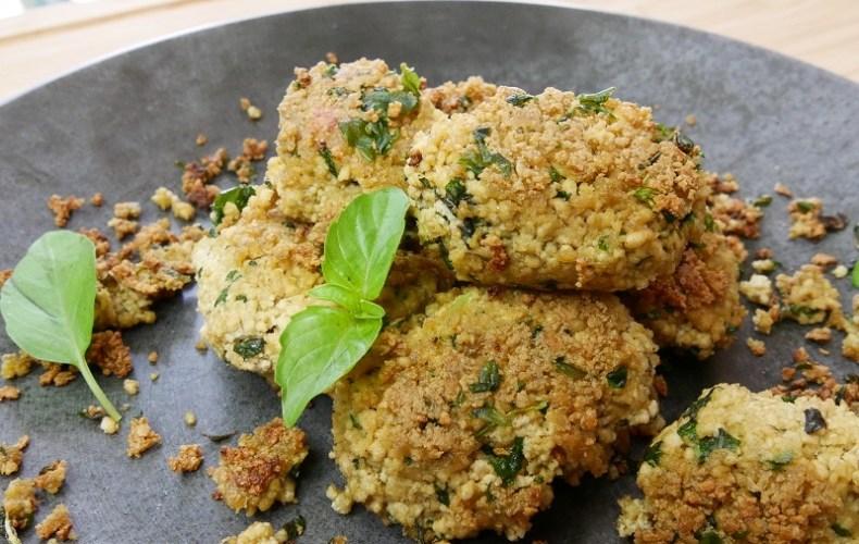Croquettes de tofu au basilic