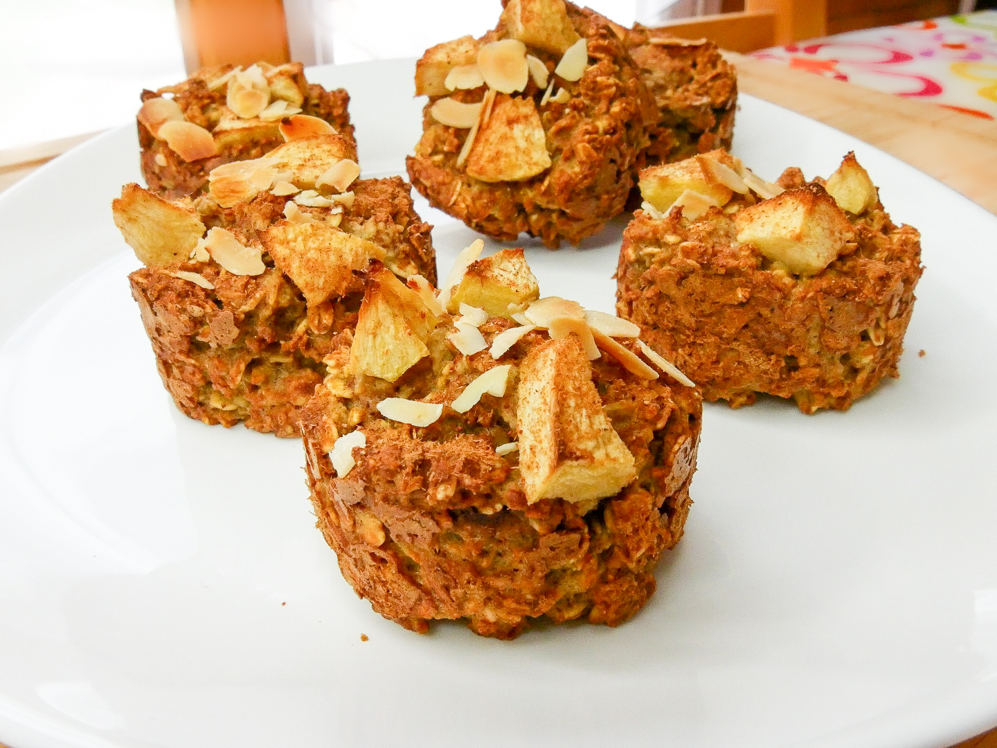 Muffins avoine pomme cannelle 3 - Muffins avoine, pomme & cannelle