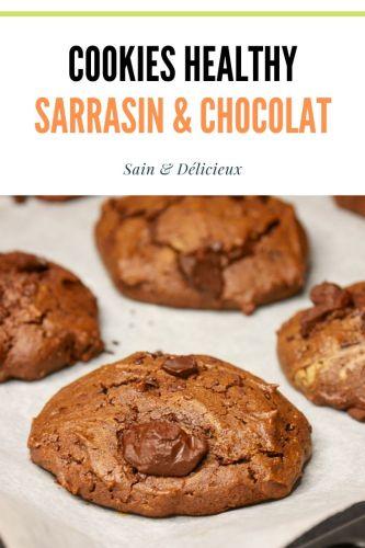 Cookies healthy sarrasin chocolat 1 - Cookies Sarrasin & Chocolat (Sans Gluten)