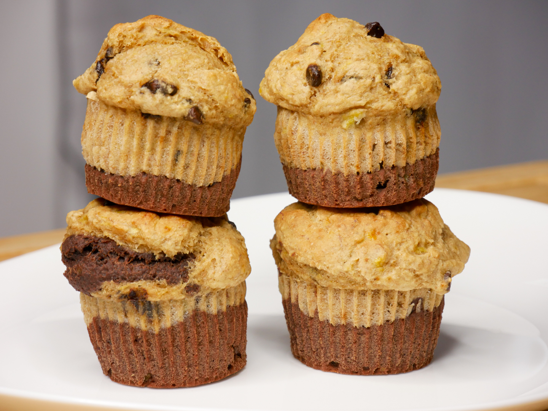 Muffins Healthy BiColor - Muffins Healthy Bicolores