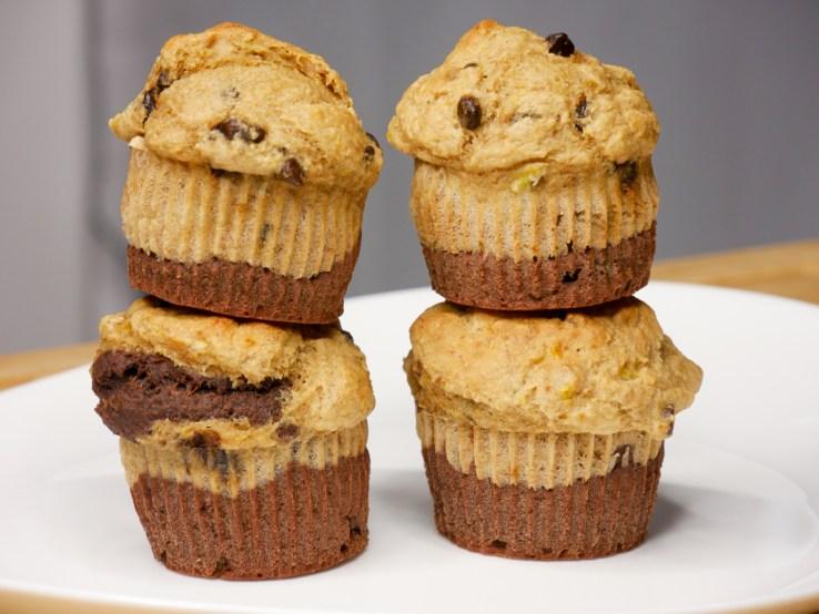 Muffins Healthy BiColor 1024x769 - 7(+3) Recettes Petits-Déjeuners Healthy (Faciles, Trop bons)