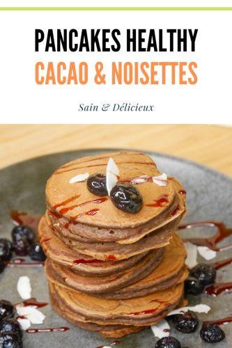 Pancakes Cacao Noisettes 2 - Pancakes Cacao Noisette (Sans Sucres Ajoutés)