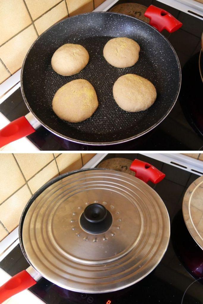 Cuissons des Muffins Anglais à couvert. - Recette Muffins Anglais (Complet, Maison)