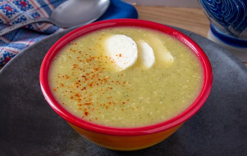 Soupe Courgette & Mozzarella