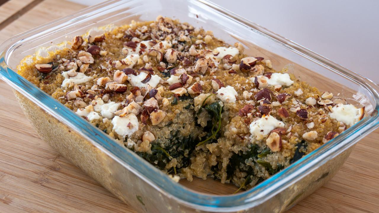 Gratin Quinoa Epinard et Chevre - Gratin Quinoa, Epinard & Chèvre (healthy)