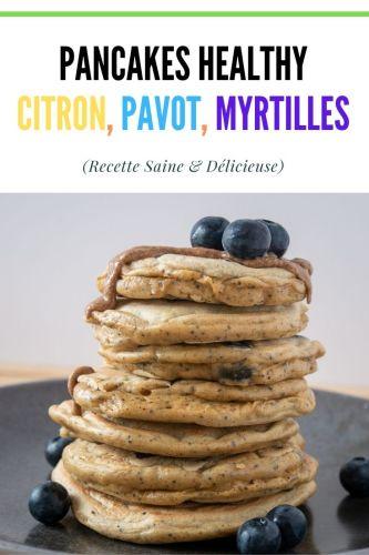 Pancakes Citron Pavot Myrtilles Sans Sucres Ajoutes 1 - Pancakes Citron, Pavot & Myrtilles (Sans Sucres Ajoutés)