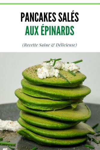 Pancakes Sales aux Epinards Sans Gluten Proteines 1 - Pancakes Salés aux Epinards (Sans Gluten, Protéinés)