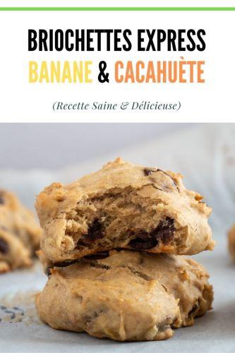 Briochettes Express Banane Beurre de Cacahuete Sans Sucre Ajoute 1 - Briochettes Express Banane & Beurre de Cacahuète (Sans Sucre Ajouté)