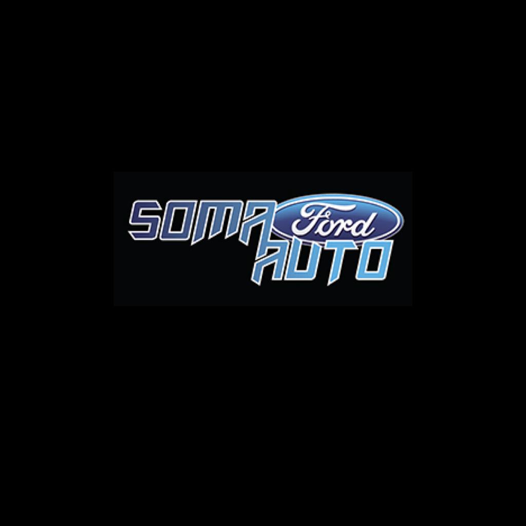 A Go Partner logos on black square.Soma Auto