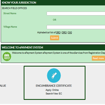 Procedure to Apply for Tnreginet Encumbrance Certificate