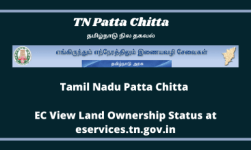 Tamil Nadu Patta Chitta : EC View Land Ownership Status at eservices.tn.gov.in