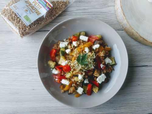 Petit épeautre aux légumes grillés et feta