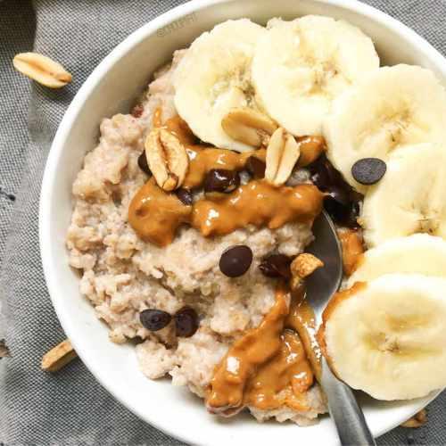Porridge protéiné avec whey au micro-ondes