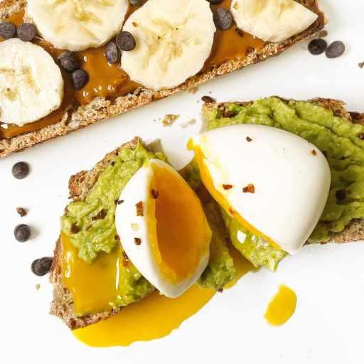 recette healthy de tartines sucrés et salés pour le petit-déjeuner