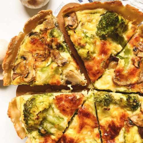Quiche healthy et végétarienne aux légumes sans crème