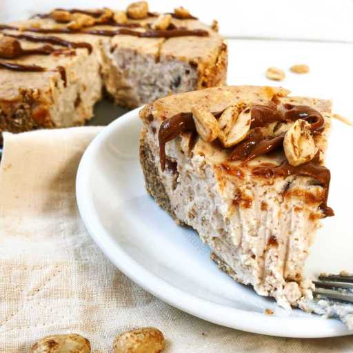 recette healthy et light de cheesecake au beurre de cacahuète sans oeuf