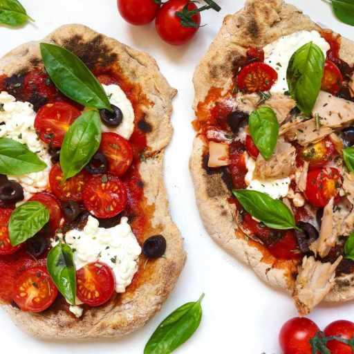 recette healthy et rapide de pizza sur du pain naan maison