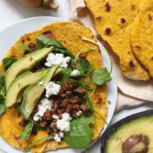 """recette healthy, vegan et maison de galette """"wrap"""" à base de farine, courge et levure chimique sans lactose"""