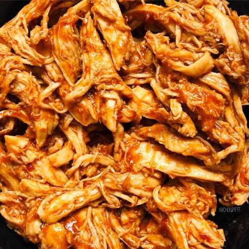 Recette healthy et facile de poulet effiloché à la sauce bbq sans matière grasse