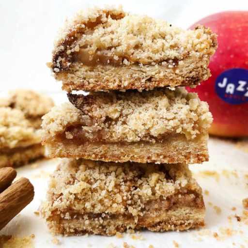 recette healthy et vegan de barre tendre aux pommes façon crumble sans beurre
