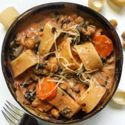 Pâtes aux pois chiches (one pot pasta e ceci)
