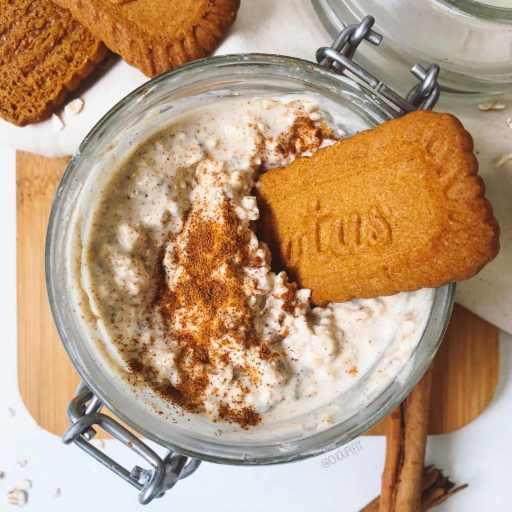 recette healthy et saine de porridge protéiné sans whey aux spéculoos sans matière grasse