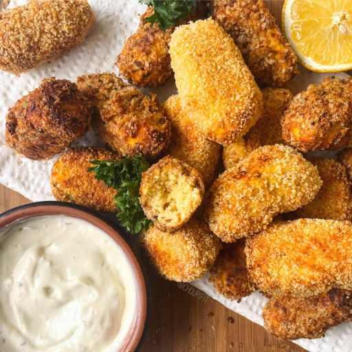 recette healthy et facile de croquettes de poisson et patate douce cuites au four