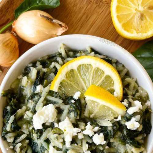 Riz aux épinards (spanakorizo)