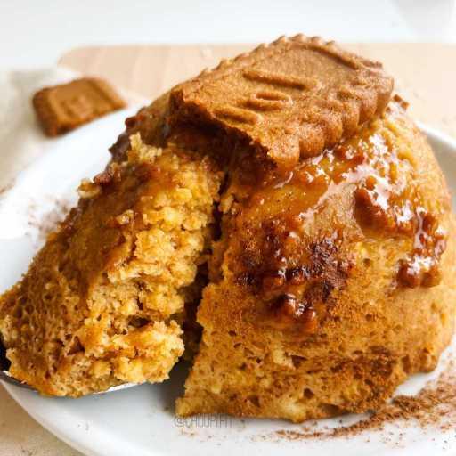 recette healthy et protéinée de bowlcake aux spéculoos sans matière grasse et sans banane