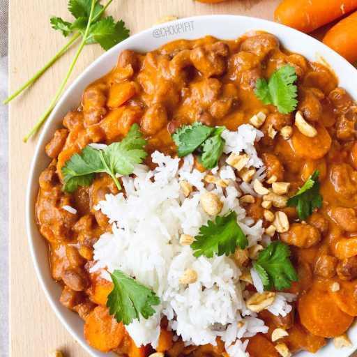 recette healthy et vegan de mafé africain au beurre de cacahuète sans viande