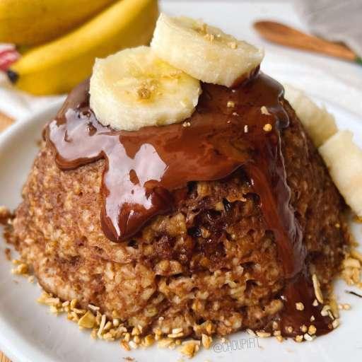 recette healthy et minceur de bowlcake banane chocolat sans sucre et sans matière grasse