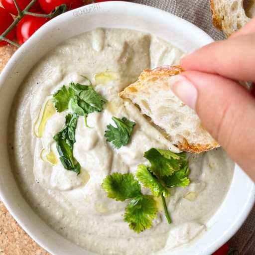 recette healthy et végétarienne de moutabal libanais à base d'aubergines et tahini