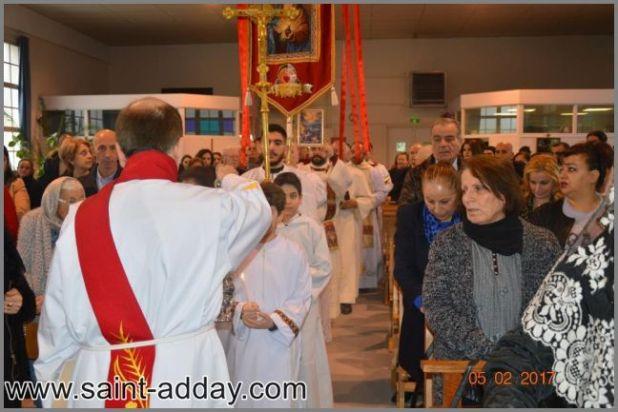 001 عيد مار أسطيفانوس في خورنة مار أفرام الكلدانية في ليون الفرنسية
