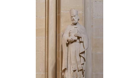 Fête de Saint-Ambroise le 7 décembre, sculpture
