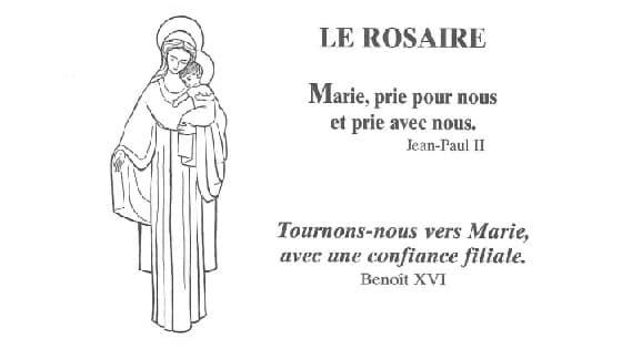 rosaire des adultes avec Marie