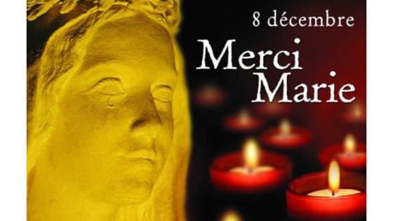 Affiche pour Bougie à nos fenêtres, le 8 décembre, pour Marie
