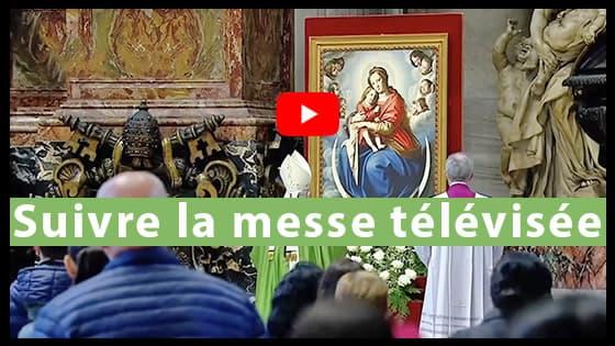 Suivre la messe télévisée