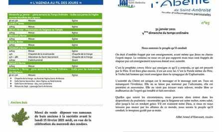 Feuille paroissiale n° 05 du 31 janvier 2021
