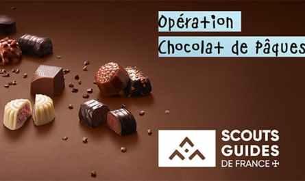 Vente de chocolats pour aider les Scouts et Guides de France de Saint-Ambroise