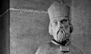 Saint Ambroise sculpture tête