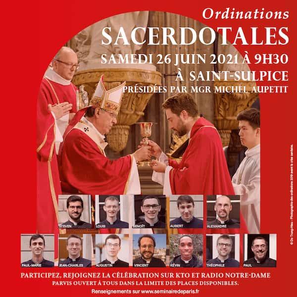 ordinations 2021 Paris