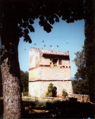 Terrasse - Pigeonnier - Années 1975.