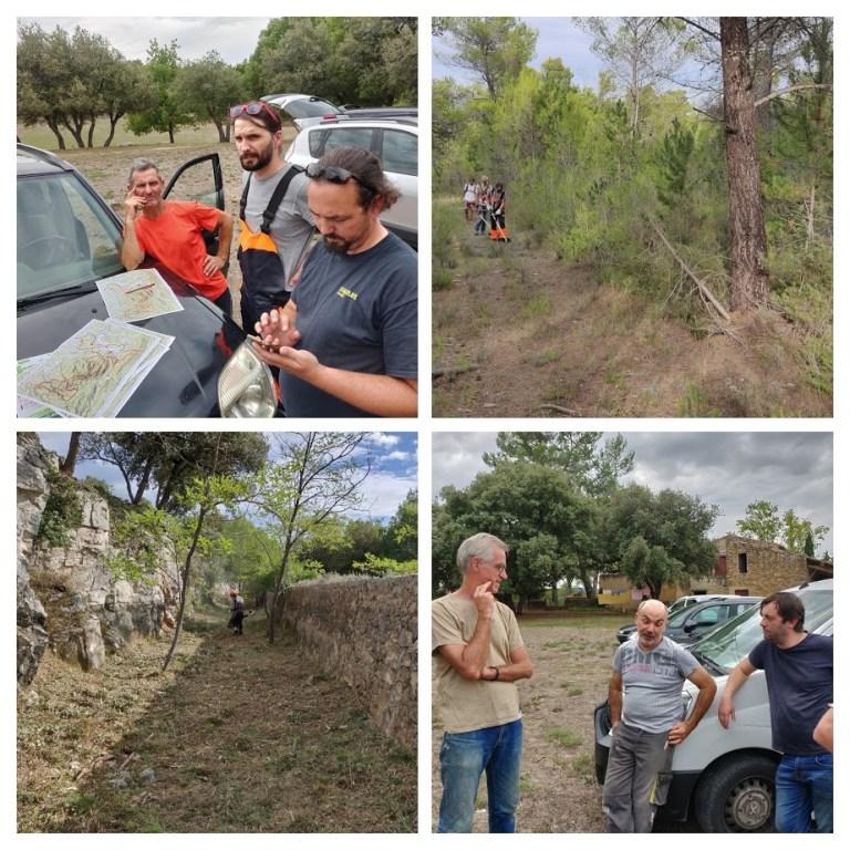 Repérage et préparation du terrain par les bénévoles de l'association Jouques Génération Raid, 2019