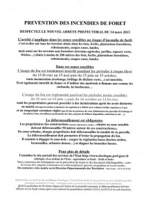 prevention incendies