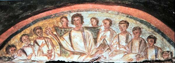 Le Christ enseignant - Catacombe de Domitille