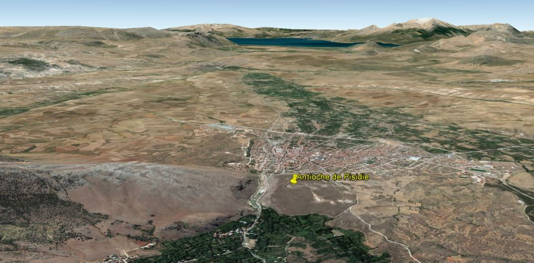 Vue de Google Earth, vers l'ouest