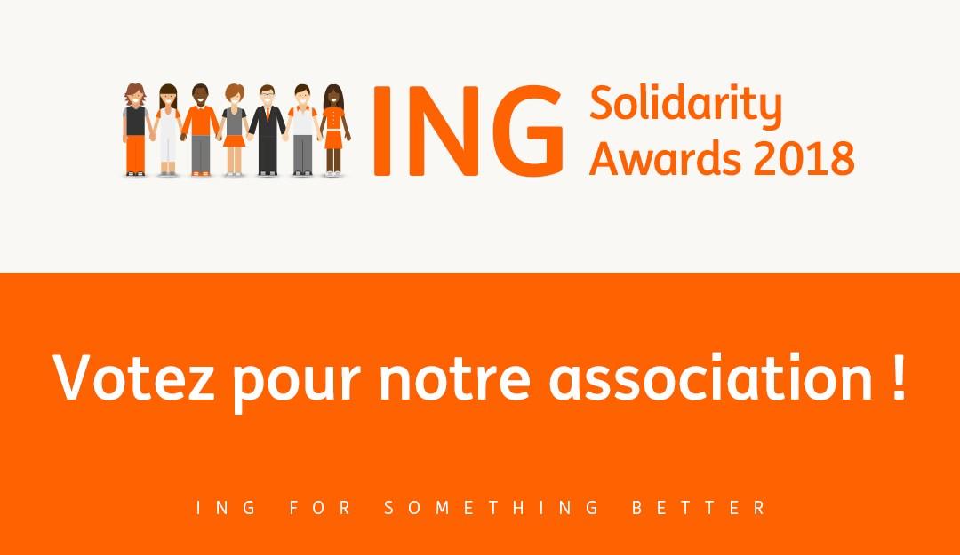 O AESA está a concorrer ao ING Solidarity Awards! Precisamos do vosso voto!